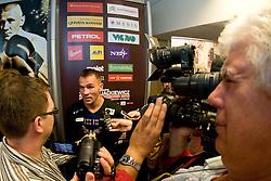 Slovenian Boxer Dejan Zavec alias Jan Zaveck alias Mr. Simpatikus, his challenge Rafal Jackiewicz at official weighing 1 Day before IBF World Champion title fight, on September 3, 2010, in Hotel Lev, Ljubljana, Slovenia. (Photo by Matic Klansek Velej / Sportida)