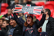 Texans fans during the NFL game between Houston Texans and Jacksonville Jaguars at Wembley Stadium in London, United Kingdom. 03 November 2019