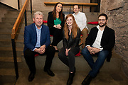 02/04/2019 Repro free:  <br />  Joe Smyth, VP of R&D at Genesys <br /> Kathryn Harnett- Senior Consultantat Milltown Partners LLP, Giovanni Tummarello, Founder and CPOat Siren and  Back row Nicola Barrett, Senior Marketing Managerat Connacht Rugby, Mark Quick, Founding Director 9th Impact and Founding Director, Nephin Whiskey, at Harvest in the Mick Lally Theatre , an opportunity to share ideas for innovation and growth and discuss how to cultivate the city as a destination for innovation, hosted by GTC  and Sponsored by AIB and The Sunday Business Post .<br /> <br />  Photo: Andrew Downes, Xposure