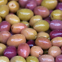 Africa, Morocco, Marrakech. Moroccan Olives of Marrakech Souks.