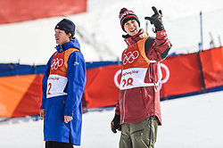 February 18, 2018 - Pyeongchang, Gangwon, South Korea - Alex Beaulieu-Marchand of Canada, silver medal after slope style for men at phoenix park, Pyeongchang,  South Korea on Febuary 18, 2019. (Credit Image: © Ulrik Pedersen/NurPhoto via ZUMA Press)