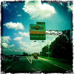 Sun Pass sign. Orlando holiday 2012. Photo taken with the Hipstamatic photo application on Apple iPhone 4.
