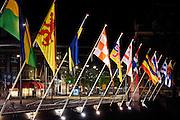 Vlaggen aan de Hofvijver, Den Haag - Flags at the Hofvijver in The Hague, The Netherlands