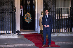 London, UK. 3 December, 2019. Justin Trudeau, Prime Minister of Canada, arrives for a reception for NATO leaders at 10 Downing Street on the eve of the military alliance's 70th anniversary summit at a luxury hotel near Watford.