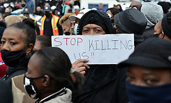 South Africa - Coronavirus - Pretoria - 16 June 2020 - Resitdent of Eersterust protest against gender based violence outside the home of Evelyn de Kock who was killed by her boyfriend on Sunday.<br /> Picture: Oupa Mokoena/African News Agency (ANA)