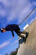 AF5CNF Children playing at a skate park
