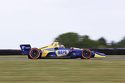 June 22, 2018 - Elkhart Lake, Wisconsin, United States of America - ALEXANDER ROSSI (27) of the United States takes to the track to practice for the KOHLER Grand Prix at Road America in Elkhart Lake, Wisconsin. (Credit Image: © Justin R. Noe Asp Inc/ASP via ZUMA Wire)