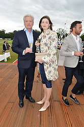 AMANDA BERRY and her husband PHILIP at the Audi Polo Challenge at Coworth Park, Blacknest Road, Ascot, Berkshire on 31st May 2015.
