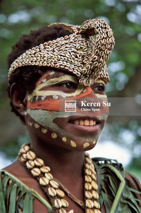 Portrait of a Sepik River tribeswoman, Upper Sepik River, Papua New Guinea
