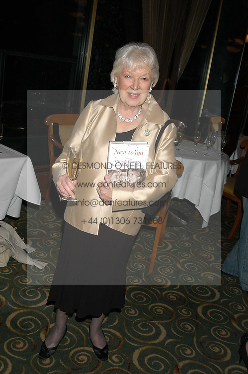Actress  JUNE WHITFIELD at a party to celebrate the publication of 'Next To You' - Caron's Courage remembered by her mother Gloria Hunniford held on Caron's birthday at The Hilton Park Lane, London on 5th Octobe 2005.<br /><br />NON EXCLUSIVE - WORLD RIGHTS