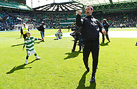24/05/15 SCOTTISH PREMIERSHIP<br /> CELTIC v INVERNESS CT<br /> CELTIC PARK - GLASGOW<br /> Celtic manager Ronny Deila performs one last Ronny Roar of the season along with Jay Beatty (left)<br /> ** ROTA IMAGE - FREE FOR USE **