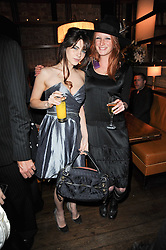 Left to right, MARTHA FREUD and OLIVIA INGE at a party to celebrate the 10th anniversary of the Myla lingerie brand held at Almada, 17 Berkeley Street, London on 17th November 2010.