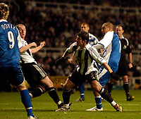 Photo: Jed Wee.<br /> Newcastle United v Reading. The Barclays Premiership. 06/12/2006.<br /> <br /> Reading's James Harper (R) scores his second goal.