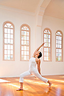 Anne Van De Water at the Santa Barbara Yoga Center.