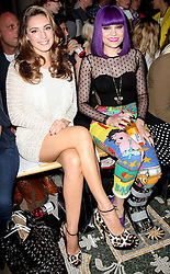 Kelly Brook and Jessie J at the  Giles show at London Fashion Week,Monday, 19th September ,2011Photo by: Stephen Lock/i-Images