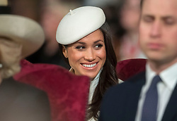 Meghan Markle during the Commonwealth Service at Westminster Abbey, London.