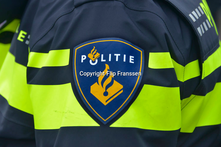 Nederland, Nijmegen, 26-5-2015 Het politielogo op het uniform van een agent. FOTO: FLIP FRANSSEN/ HOLLANDSE HOOGTE