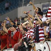 USA soccer fans cheer during an international friendly soccer match between Scotland and the United States at EverBank Field on Saturday, May 26, 2012 in Jacksonville, Florida.  The United States won the match 5-1 in front of 44,000 fans. (AP Photo/Alex Menendez)