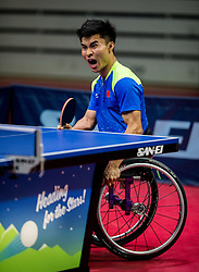 Cao Ningning of China plays final match during Day 4 of SPINT 2018 - World Para Table Tennis Championships, on October 20, 2018, in Arena Zlatorog, Celje, Slovenia. Photo by Vid Ponikvar / Sportida