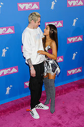 August 21, 2018 - New York City, New York, USA - 8/20/18.Pete Davidson and Ariana Grande at the 2018 MTV Video Music Awards at Radio City Music Hall in New York City. (Credit Image: © Starmax/Newscom via ZUMA Press)