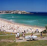 Bondi Beach on a sunny Sunday afternoon, Sydney, NSW, Australia
