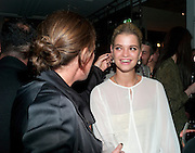 KATE PHELAN; PIXIE GELDOF; , Leaving dinner for Kate Phelan given by Alex Shulman and Mary Homer. Riding House Cafe. Great Titchfield st. London. 20 September 2011. <br /> <br />  , -DO NOT ARCHIVE-© Copyright Photograph by Dafydd Jones. 248 Clapham Rd. London SW9 0PZ. Tel 0207 820 0771. www.dafjones.com.