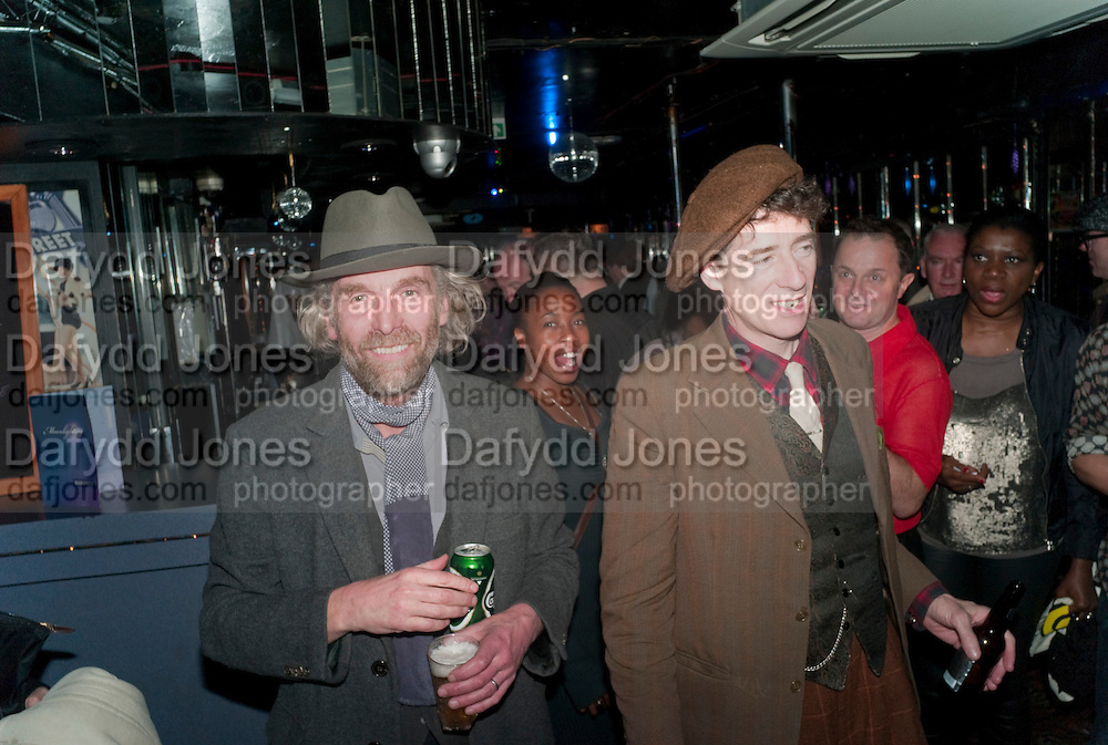 ROBERT PERENO; GAZ MAYALL, Launch of  Photography bookÔWe Can Be Heroes: London Clubland 1976 Ð 84Õ by Graham Smith.  Moonlighting (formerly Le Beat Route), 17 Greek St, Soho, London, 8 December 2011<br /> ROBERT PERENO; GAZ MAYALL, Launch of  Photography book'We Can Be Heroes: London Clubland 1976 – 84' by Graham Smith.  Moonlighting (formerly Le Beat Route), 17 Greek St, Soho, London, 8 December 2011