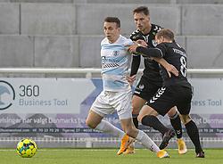 Sebastian Czajkowski (FC Helsingør) under kampen i 1. Division mellem FC Helsingør og Kolding IF den 24. oktober 2020 på Helsingør Stadion (Foto: Claus Birch).