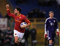 FOOTBALL - UEFA CHAMPIONS LEAGUE 2010/2011 - GROUP STAGE - GROUP E - AS ROMA v BAYERN MUNCHEN - 23/11/2010 - PHOTO FABIO BOZZANI / PENTASPORTS / DPPI - JOY MARCO BORRIELLO (ROMA) AFTER HIS GOAL