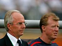 Photo: Glyn Thomas.<br />England v Trinidad & Tobago. Group B, FIFA World Cup 2006. 15/06/2006.<br /> England assistant coach Steve McClaren (R) and coach Sven Goran Eriksson.