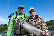 King Salmon fishing near King Salmon, Alaska.