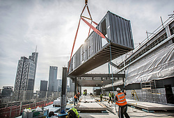 08.03.14   5 Broadgate, Generator lift. Generators were put together and tested off site. Photo by Anthony Charlton