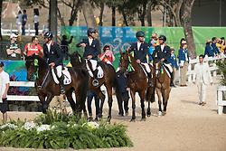Team France, Gold medal, Laghouag Karim, Lemoine Mathieu, Nicolas Astier, Vallette Thibaut, FRA<br /> Olympic Games Rio 2016<br /> © Hippo Foto - Dirk Caremans<br /> 09/08/16