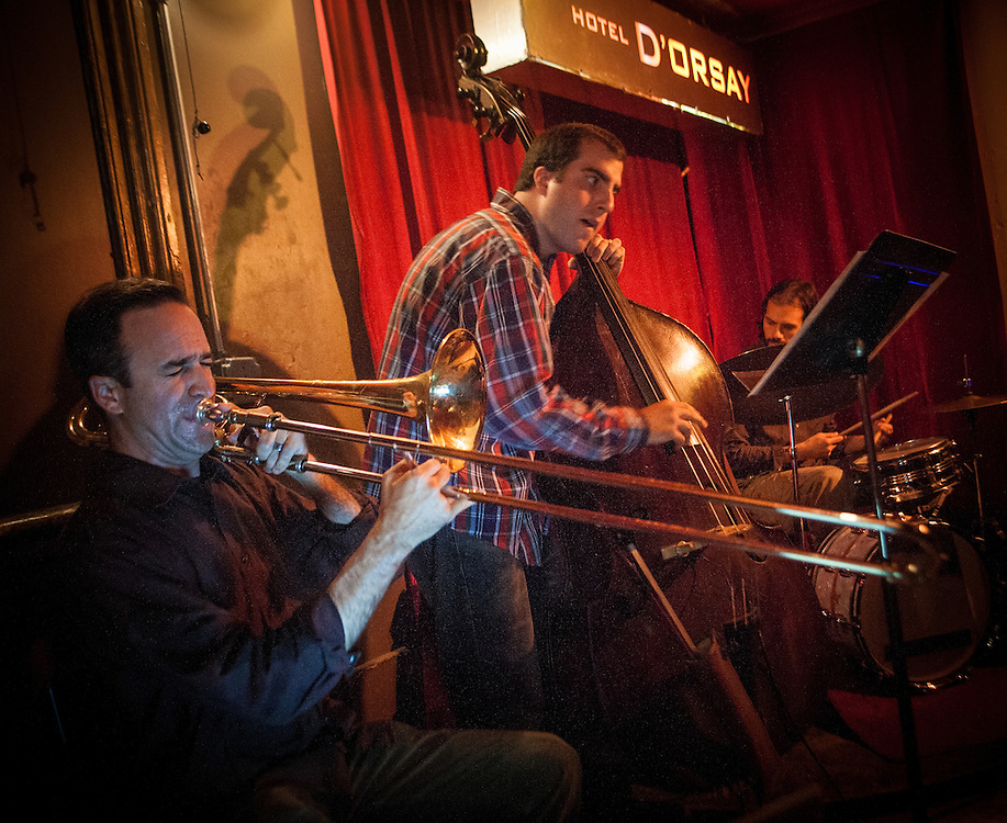 Michael Dessen Trio performs at Barbes, in Brooklyn, NY