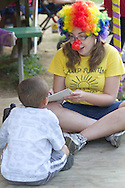Middletown, New York - People play games during the Camp Funshine Carnival Night on Aug. 16, 2012. The night celebrated the Middletown YMCA summer camp, which ended the next day.