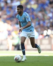 Manchester City'€™s Riyad Mahrez in action