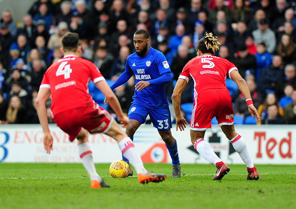 Cardiff City's Junior Hoilett<br /> <br /> Photographer Ashley Crowden/CameraSport<br /> <br /> The EFL Sky Bet Championship - Cardiff City v Middlesbrough - Saturday 17th February 2018 - Cardiff City Stadium - Cardiff<br /> <br /> World Copyright © 2018 CameraSport. All rights reserved. 43 Linden Ave. Countesthorpe. Leicester. England. LE8 5PG - Tel: +44 (0) 116 277 4147 - admin@camerasport.com - www.camerasport.com