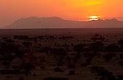 Sunset Over Grumeti Plain
