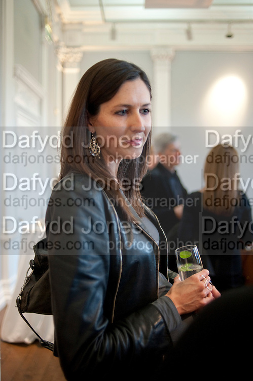 NINA MIALL, MCA- Sydney cocktails. Brandon rooms. ICA. London. 11 October 2011. <br /> <br />  , -DO NOT ARCHIVE-© Copyright Photograph by Dafydd Jones. 248 Clapham Rd. London SW9 0PZ. Tel 0207 820 0771. www.dafjones.com.
