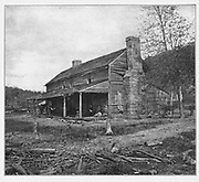 Here, at his headquarters, holding the Federal line of retreat at Rossville Gap (the Confederate objective in the battle), General Gordon Granger heard with increasing anxiety the sounds of the conflict, three miles away, growing more and more ominous. from the book ' The Civil war through the camera ' hundreds of vivid photographs actually taken in Civil war times, sixteen reproductions in color of famous war paintings. The new text history by Henry W. Elson. A. complete illustrated history of the Civil war