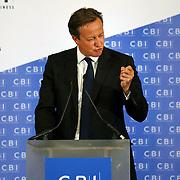 British PM David Cameron addressing the CBI Annual Dinner at the Hilton Hotel, Glasgow, Scotland. Picture Robert Perry 28/ 08/ 2014