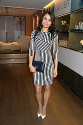 SAMANTHA BARKS at a reception to launch the range of Dr Lancer beauty products held at The Penthouse, Harrods, Knightsbridge, London on 16th September 2013.