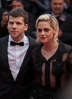 Actor Jesse Eisenberg and Actress Kristen Stewart at the gala screening for Woody Allen's film Café Society at the 69th Cannes Film Festival, Wednesday 11th May 2016, Cannes, France. Photography: Doreen Kennedy