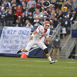 Oct 31, 2009; East Hartford, CT, USA; Rutgers quarterback Tom Savage (7) scrambles from the pocket during second half Big East NCAA football action in Rutgers' 28-24 victory over Connecticut at Rentschler Field.