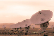 Radio telescopes at the Very Large Array (VLA), Plains of San Agustin, Socorro, New Mexico USA