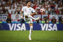 July 11, 2018 - Moscow, Vazio, Russia - Kyle WALKER of England during a game between England and Croatia valid for the semi final of the 2018 World Cup, held at the Lujniki Stadium in Moscow, Russia. Croatia wins 2-1. (Credit Image: © Thiago Bernardes/Pacific Press via ZUMA Wire)