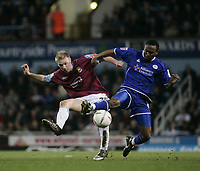 Luke Chadwick and Darren Kenton.<br /> West Ham United v Leicester City. Coca-Cola Championship. Picture by Barry Bland 18/03/05