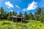 Backpacker shelter, Mount LeConte, Great Smoky Mountains. Photo taken July 29, 2018.