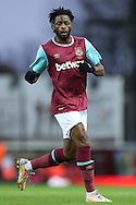 Alex Song of West Ham United looks on. Barclays Premier league match, West Ham Utd v Stoke city at the Boleyn Ground, Upton Park  in London on Saturday 12th December 2015.<br /> pic by John Patrick Fletcher, Andrew Orchard sports photography.