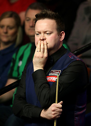 Shaun Murphy looks on nervously during his match against Yan Bingtao on day three of the Betfred Snooker World Championships at the Crucible Theatre, Sheffield.